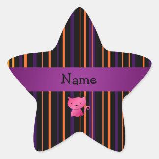 Rayas conocidas personalizadas de Halloween del Pegatina En Forma De Estrella