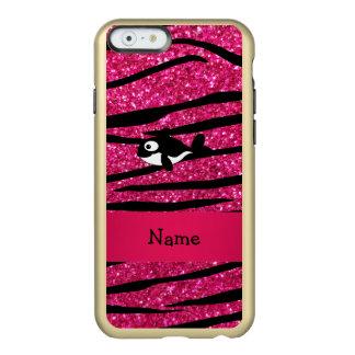 Rayas conocidas personalizadas de la cebra de la funda para iPhone 6 plus incipio feather shine