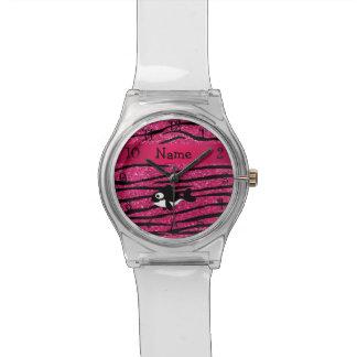 Rayas conocidas personalizadas de la cebra de la reloj