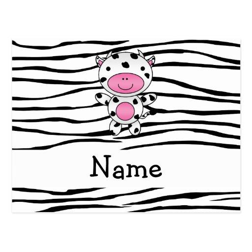 Rayas conocidas personalizadas de la cebra de la postal