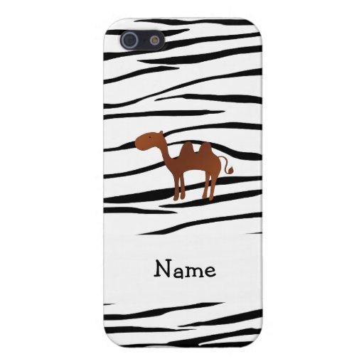 Rayas conocidas personalizadas de la cebra del cam iPhone 5 cárcasa