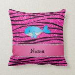 Rayas conocidas personalizadas de la cebra del almohadas
