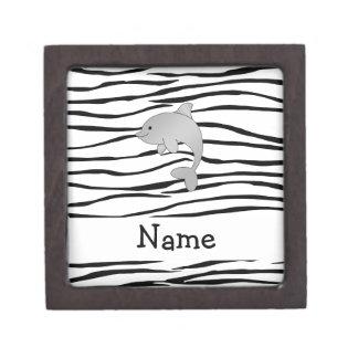 Rayas conocidas personalizadas de la cebra del del caja de recuerdo de calidad