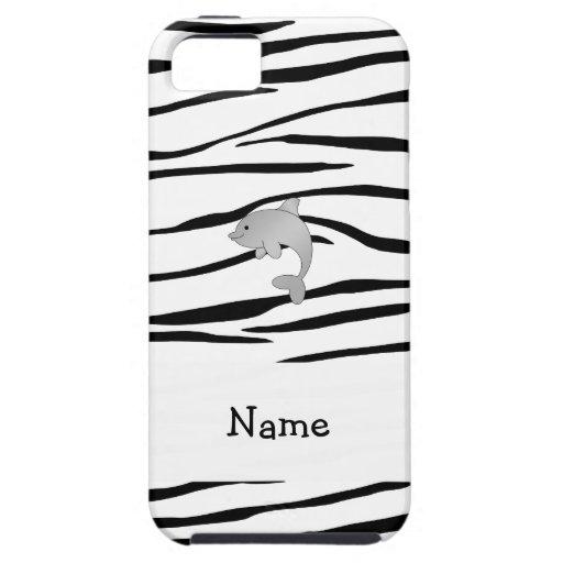 Rayas conocidas personalizadas de la cebra del del iPhone 5 Case-Mate cobertura