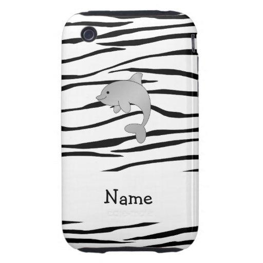 Rayas conocidas personalizadas de la cebra del del iPhone 3 tough protector
