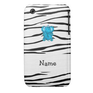Rayas conocidas personalizadas de la cebra del ele iPhone 3 Case-Mate carcasas
