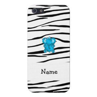 Rayas conocidas personalizadas de la cebra del ele iPhone 5 cárcasas