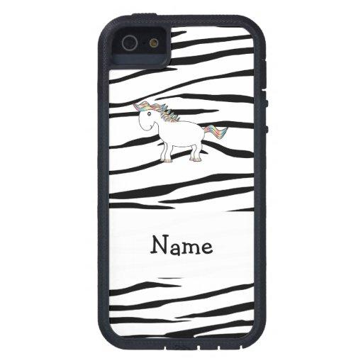 Rayas conocidas personalizadas de la cebra del iPhone 5 fundas