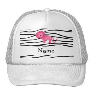 Rayas conocidas personalizadas de la cebra del leó gorras