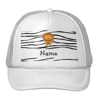 Rayas conocidas personalizadas de la cebra del leó gorras de camionero