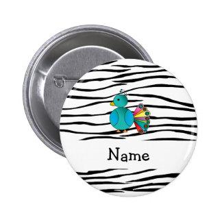 Rayas conocidas personalizadas de la cebra del pav pins