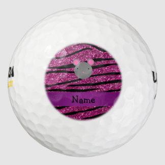 Rayas conocidas personalizadas de la cebra del pack de pelotas de golf