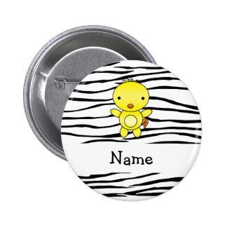 Rayas conocidas personalizadas de la cebra del pol pins