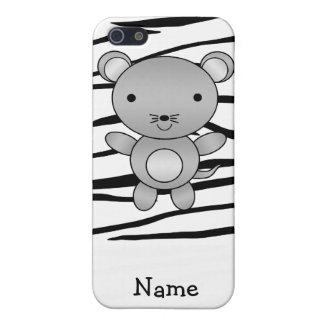 Rayas conocidas personalizadas de la cebra del rat iPhone 5 fundas