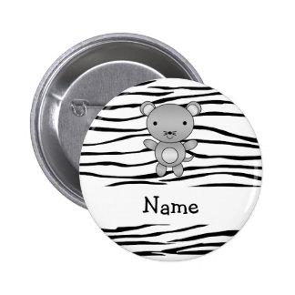 Rayas conocidas personalizadas de la cebra del rat pin