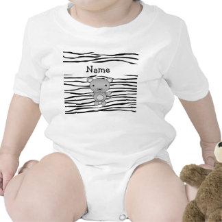 Rayas conocidas personalizadas de la cebra del rat trajes de bebé