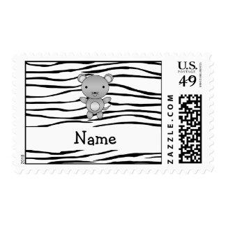 Rayas conocidas personalizadas de la cebra del sellos