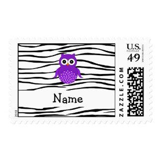 Rayas conocidas personalizadas de la cebra del sello postal
