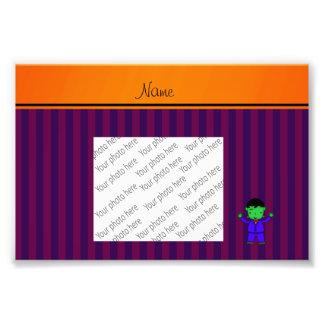 Rayas conocidas personalizadas de la púrpura del f impresion fotografica
