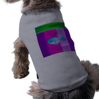 Rayas conocidas personalizadas de la púrpura del playera sin mangas para perro