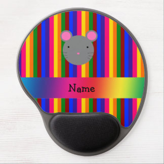 Rayas conocidas personalizadas del arco iris de la alfombrilla gel