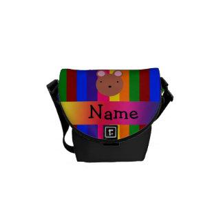 Rayas conocidas personalizadas del arco iris de la bolsas de mensajería