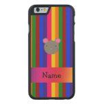 Rayas conocidas personalizadas del arco iris de la funda de iPhone 6 carved® de arce