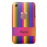 Rayas conocidas personalizadas del arco iris de la iPhone 3 cobreturas