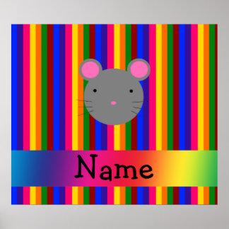 Rayas conocidas personalizadas del arco iris de la impresiones