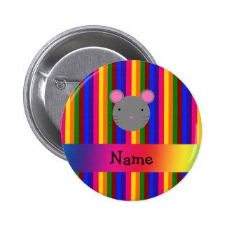 Rayas conocidas personalizadas del arco iris de la pins