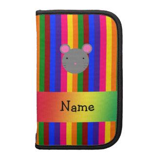 Rayas conocidas personalizadas del arco iris de la organizador