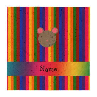 Rayas conocidas personalizadas del arco iris de la posavasos