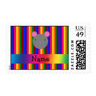 Rayas conocidas personalizadas del arco iris de la sello