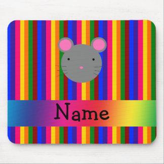 Rayas conocidas personalizadas del arco iris de la tapete de ratón