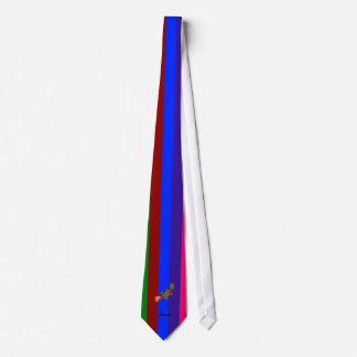 Rayas conocidas personalizadas del arco iris del corbata