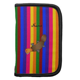 Rayas conocidas personalizadas del arco iris del p planificador