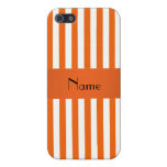 Rayas conocidas personalizadas del naranja y del b iPhone 5 funda