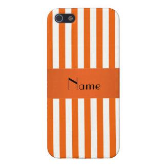 Rayas conocidas personalizadas del naranja y del iPhone 5 carcasas