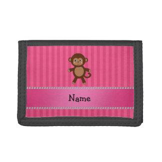 Rayas conocidas personalizadas del rosa del mono d