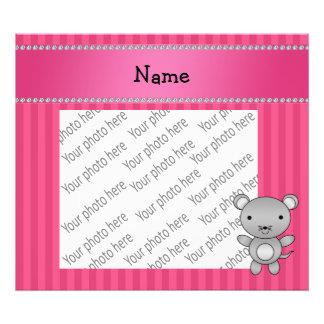 Rayas conocidas personalizadas del rosa del ratón cojinete