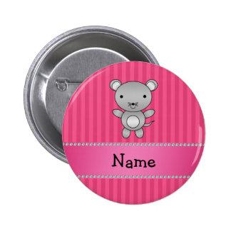Rayas conocidas personalizadas del rosa del ratón pin