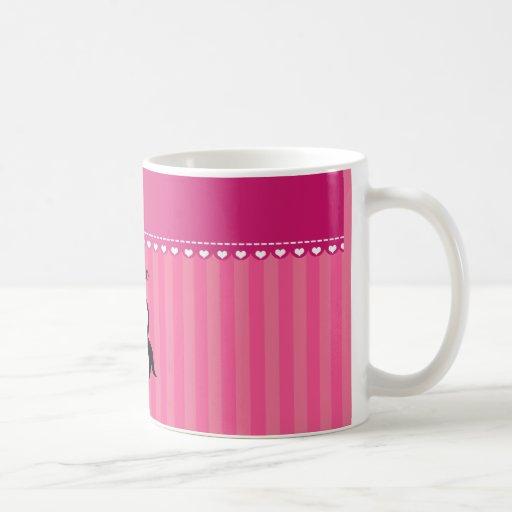 Rayas conocidas personalizadas del rosa del taza clásica