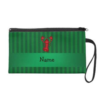 Rayas conocidas personalizadas del verde de la lan