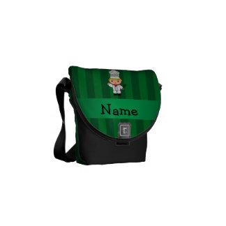 Rayas conocidas personalizadas del verde del cocin bolsa messenger