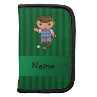 Rayas conocidas personalizadas del verde del jugad planificador