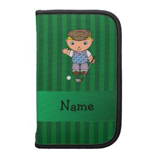Rayas conocidas personalizadas del verde del jugad planificadores