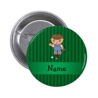Rayas conocidas personalizadas del verde del jugad pin