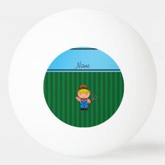 Rayas conocidas personalizadas del verde del pelota de ping pong