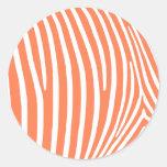 Rayas coralinas de la cebra etiqueta redonda