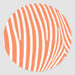 Rayas coralinas de la cebra pegatina redonda